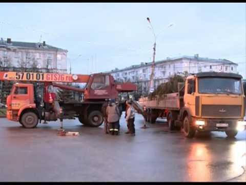 В Ярославле установили живую ель у ДК Добрынина