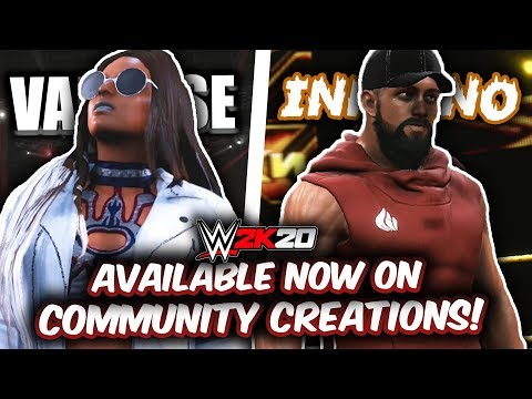 WWE 2K20 - DANTE INFERNO & AMBER VAN CISE AVAILABLE NOW ON COMMUNITY CREATIONS!