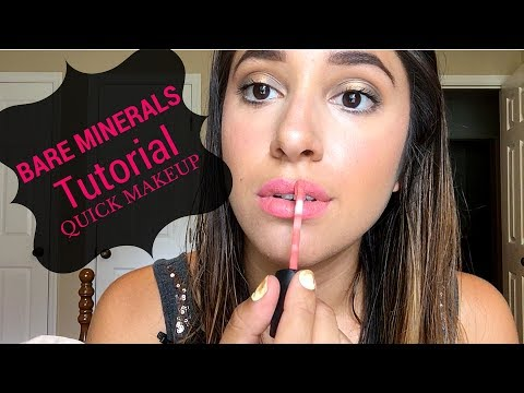BARE MINERALS MAKEUP TUTORIAL | Hollalexis