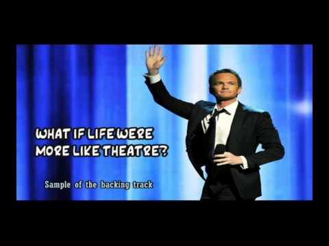 What if life were more like theatre Backing track karaoke instrumental