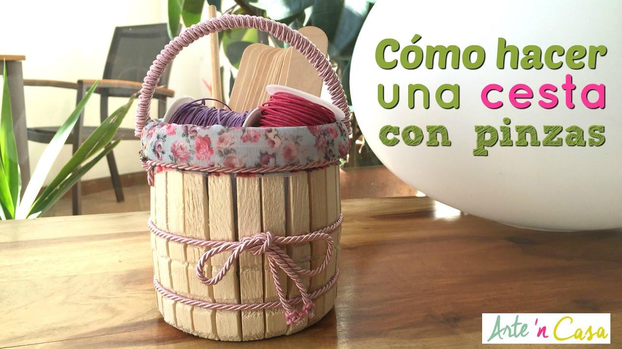 modelado duradero paquete elegante y resistente 100% autentico How to make a basket with of wooden clothespins DIY