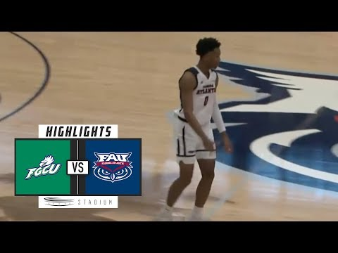 Florida Gulf Coast vs. Florida Atlantic Basketball Highlights (2018-19) | Stadium