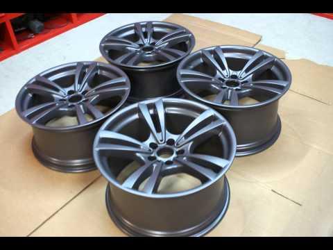 TeamAPT  Pulverbeschichten Anthrazit Audi Steingrau pulvern lackieren Felgenveredelung polieren