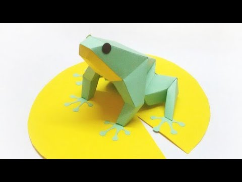 How To make Paper frog 🐸 out of a paper ! Handmade craft !