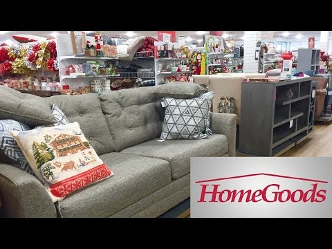 HOME GOODS FURNITURE SOFAS ARMCHAIRS CHAIRS CHRISTMAS DECOR SHOP WITH ME SHOPPING STORE WALK THROUGH