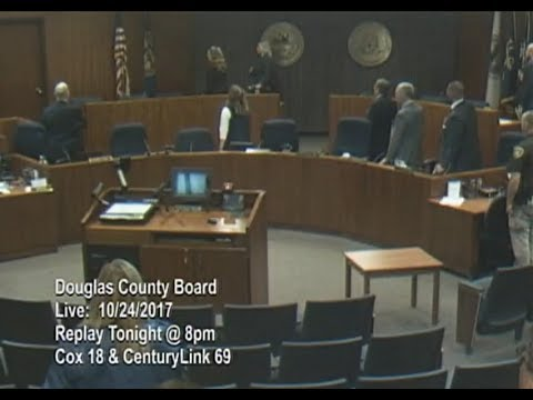 Board of County Commissioners Douglas County Nebraska, October 24, 2017