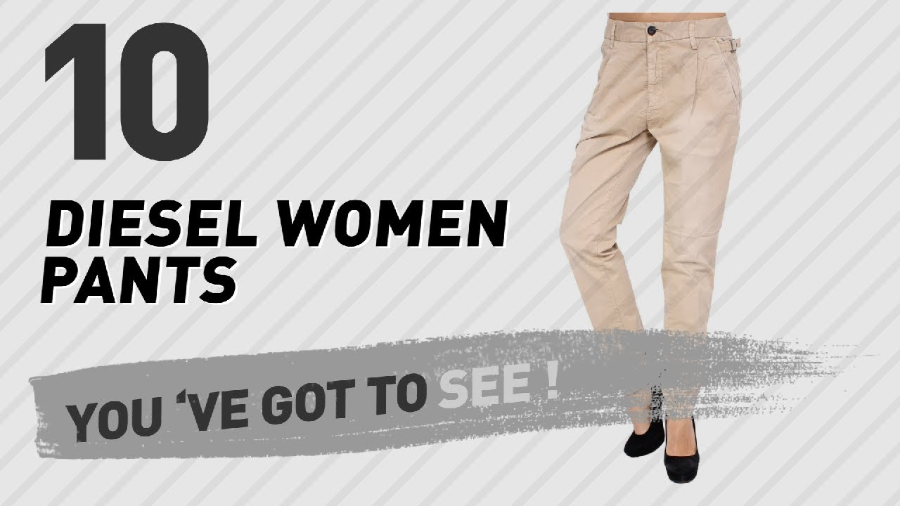 2c9f37d1 Diesel Women Pants // New & Popular 2017 - YouTube