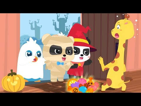 Let's Go Trick or Treating | Baby Panda's Naughty Halloween Night | Halloween Songs | BabyBus