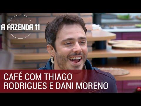 Peões tomam café com Thiago Rodrigues e Dani Moreno   A Fazenda