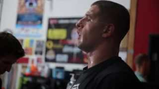 Marine MMA Fighter and Mortarman Trains in Oceanside, California at The Compound