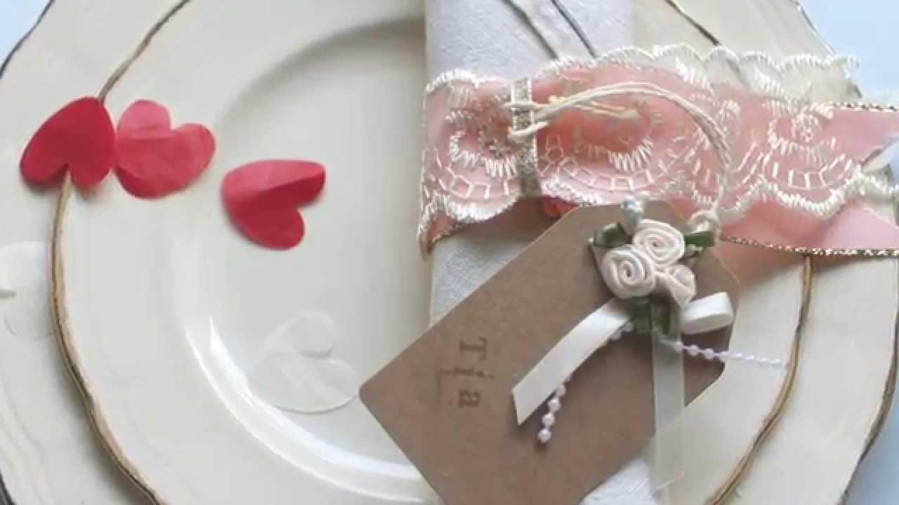 How to make wedding napkin rings YouTube
