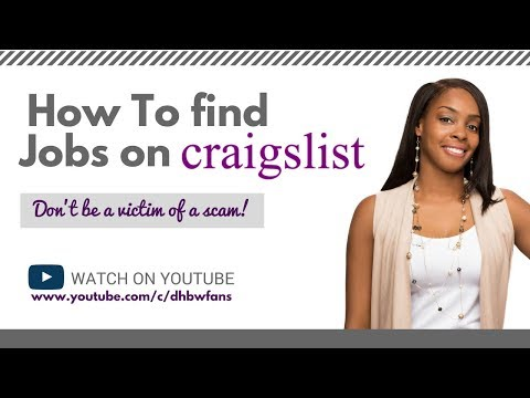 How To Successfully Find Work at Home Jobs on Craigslist - YouTube