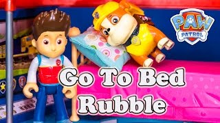 PAW PATROL Nickelodeon l Rubble's Bedtime a Paw Patrol Toys Video Parody