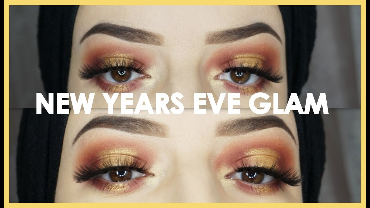 New Years Eve Glam Gold Makeup Tutorial Huda Beauty Youtube