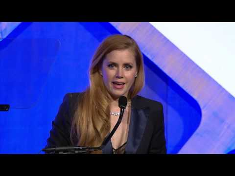 Amy Adams accepting a Gotham Tribute at the 2016 IFP Gotham Awards