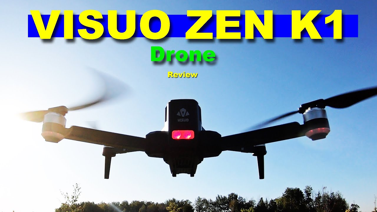 The 2K/4K VISUO ZEN K1 Drone - 30 Minute Flight Time - Review