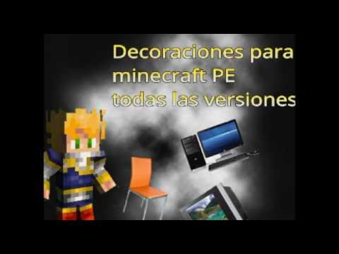 Decoraciones para tu casa en minecraft pe youtube for Casa moderna en minecraft pe 0 16 0