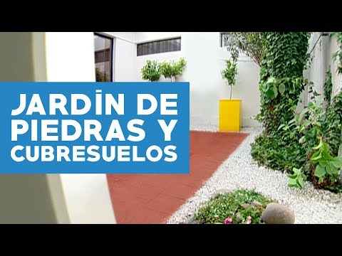 C mo construir un jard n piedras y cubresuelos youtube - Como decorar mi jardin con piedras y plantas ...
