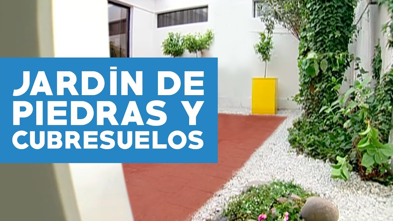 C mo construir un jard n piedras y cubresuelos youtube for Decoracion de patios pequenos con piedras