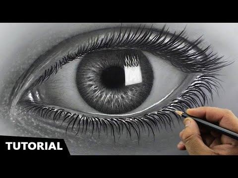 Draw Hyperrealistic Eye | Easiest Method | Narrated Step-by-step.