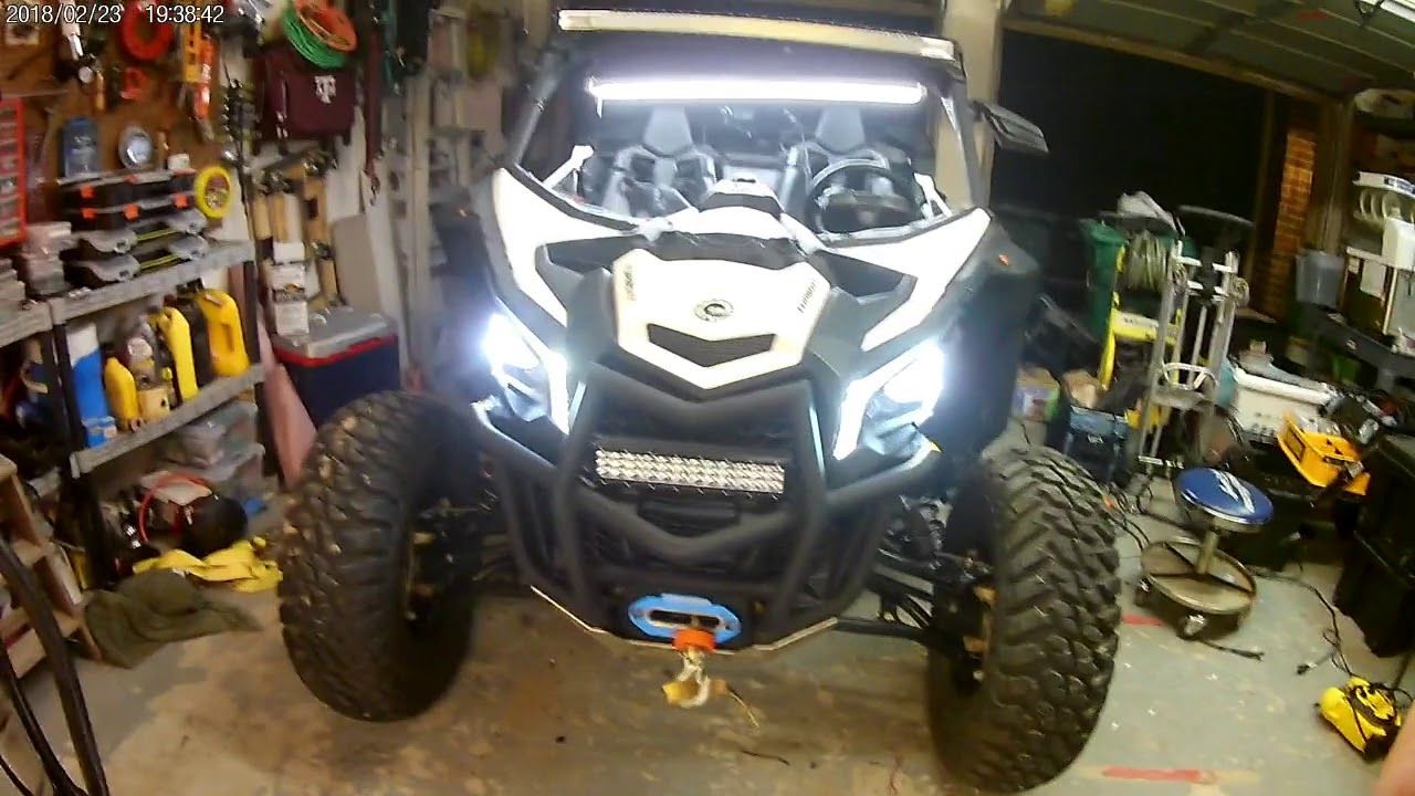 SuperATV Deluxe Turn Signal Kit for Can-Am Maverick X3 With Dash-Mounted Turn Signal Rocker Switch Plug and Play For Easy Installation!