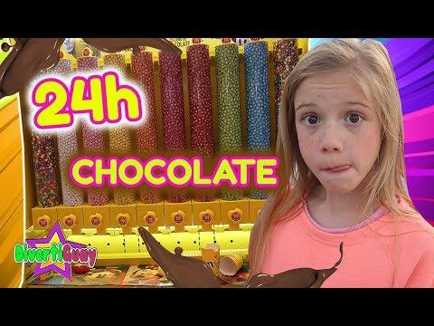 24 HORAS COMIENDO SOLO CHOCOLATE 🍫 PASO UN DÍA ENTERO COMIENDO TODO DE CHOCOLATE DANIELA