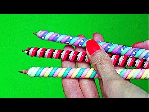 DIY Weird Back to School Supplies You Need to Try – Candy Style / DIY Hot Glue Pencil Topper
