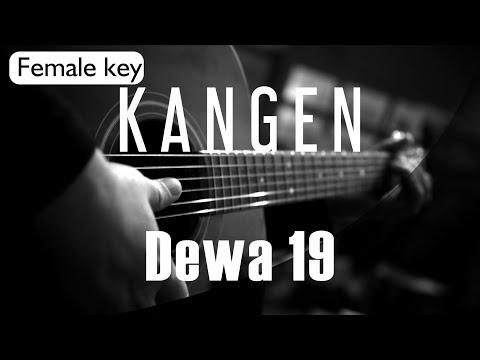 Kangen - Dewa 19 Female Key ( Acoustic Karaoke )