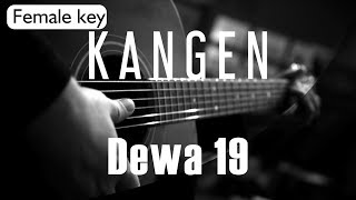 Kangen Dewa 19 Female Key Acoustic Karaoke