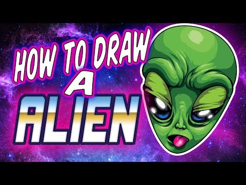 HOW TO DRAW A ALIEN ( ADOBE ILLUSTRATOR ) thumbnail