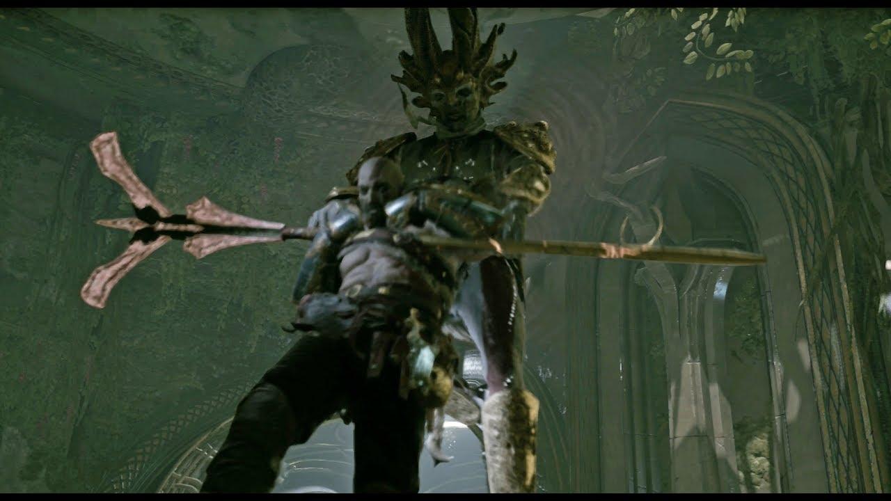 God of War PS4 - Dark Elf King Boss Fight #6 (Give Me God of War Hard Difficulty) (4K)