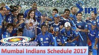 Mumbai Indians IPL T20 Matches Schedule 2017   MI Matches Timetable   Mumbai Indians Matches List