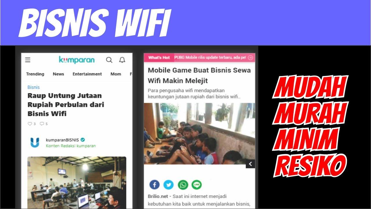 Bisnis Wifi Indihome Di Rumah Atau Cafe Pake Alat Sendiri