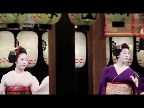 Kyoto at night: Dance performances by real Geisha 【HD】