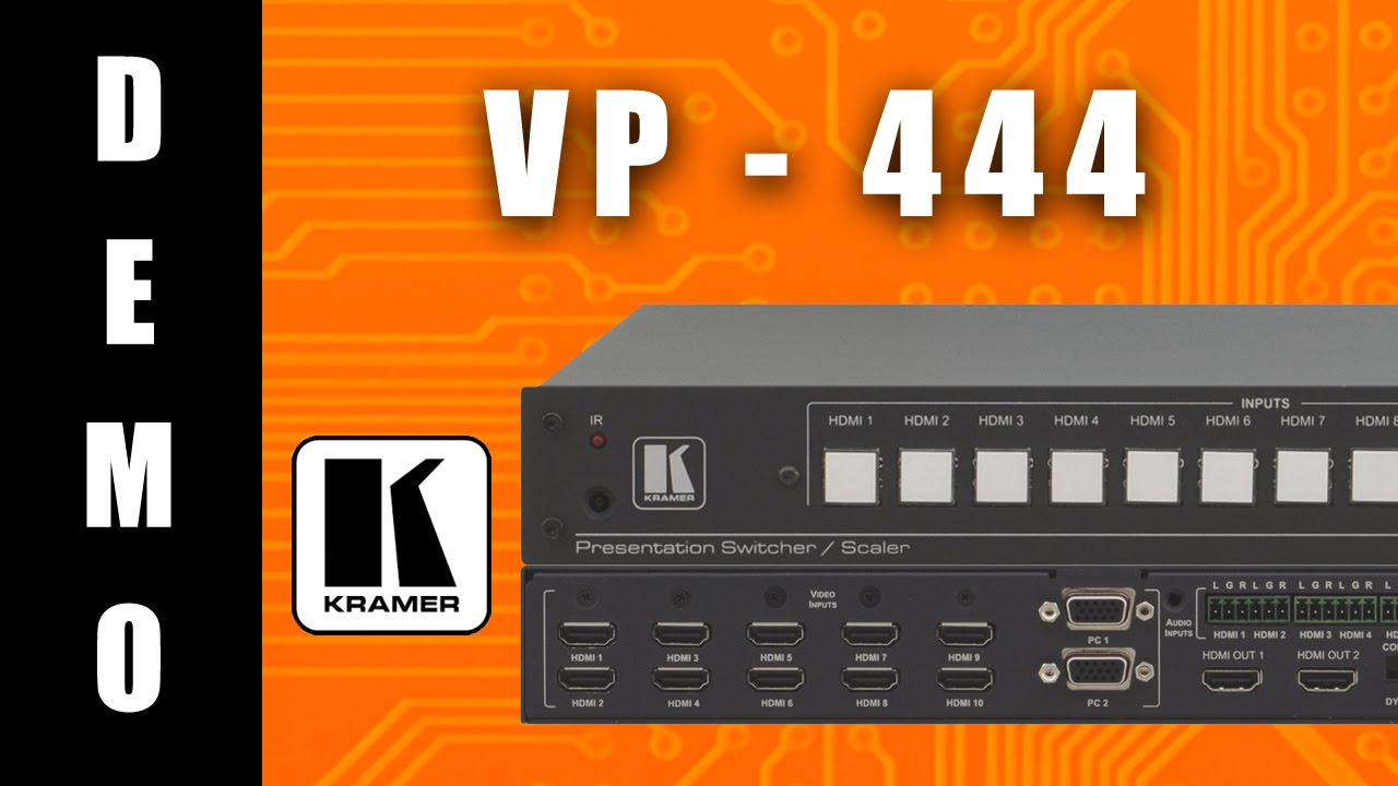 Kramer VP-444 Presentation Scaler-Switcher Drivers Windows 7
