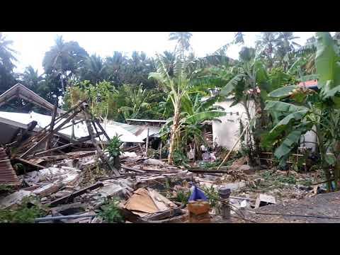Menyedihkan suasana setelah gempa di lombok utara