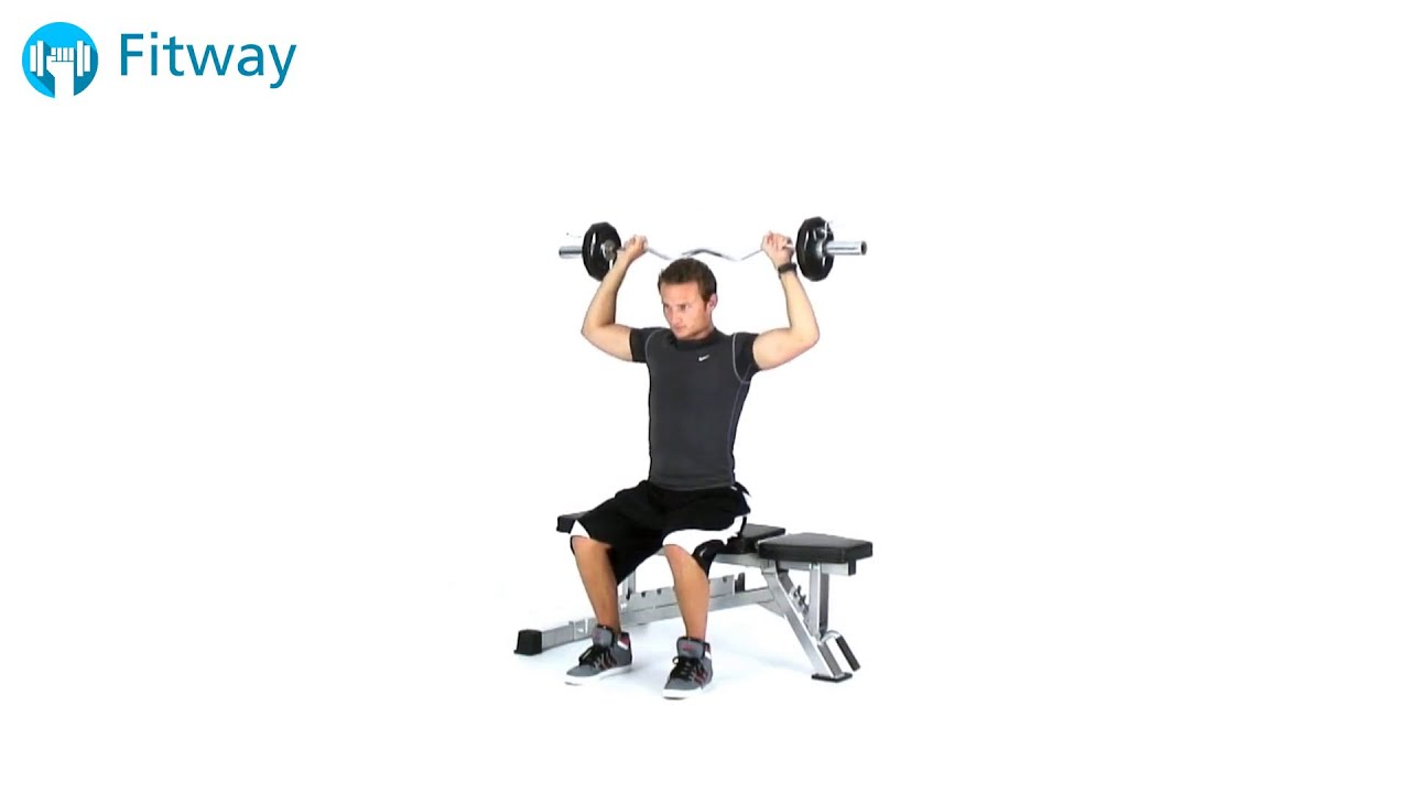 How To Do Ez Curl Bar Shoulder Press Bradford Seated