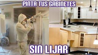 Cómo pintar gabinetes de cocina, SIN LIJAR proceso completo para principiantes