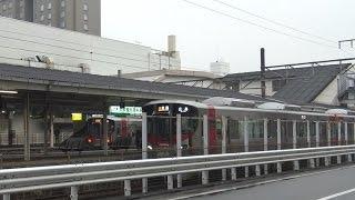 レクレ前から見た呉駅を出発する呉線の新型車両227系