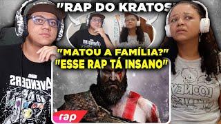 MINHA MÃE REAGINDO AO Rap do Kratos (God of War) - EU SOU UM DEUS | NERD HITS | 7 Minutoz