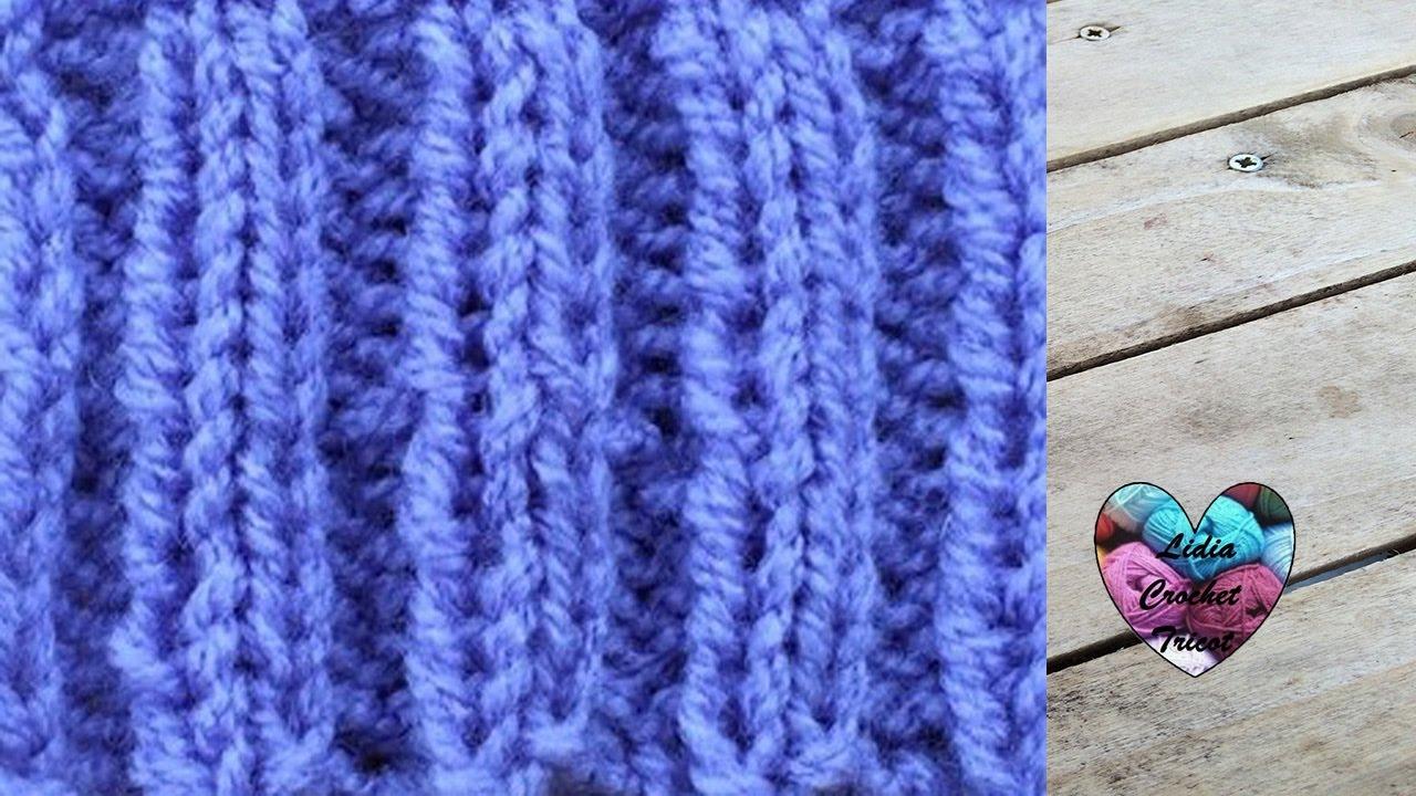 1d6e42ec387a Point élastique 1 1 et 2 2 tricot - YouTube