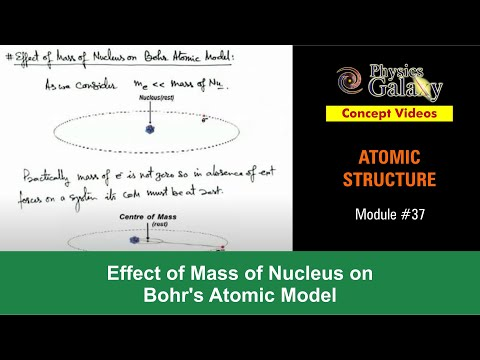 37. Physics | Atomic Structure | Effect of Mass of Nucleus on Bohr