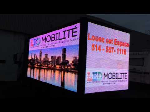 LED Mobility Montreal Advertising Truck Service