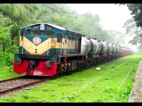 Biggest Freight Train of Bangladesh is Running in Rain.