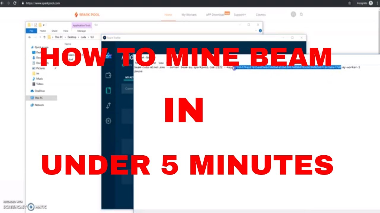 How To Mine Beam With NVIDIA + AMD GPU's on SPARKPOOL | Crypto Buddy
