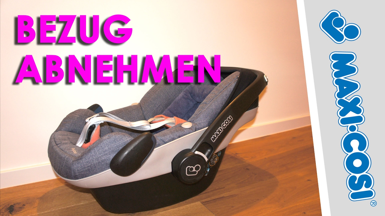maxi cosi pebble bezug abnehmen youtube. Black Bedroom Furniture Sets. Home Design Ideas