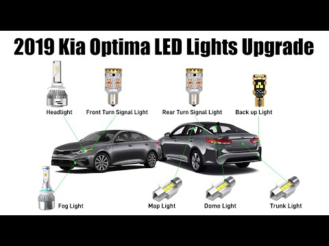 2017 2019 Kia Optima Light Bulb Size Upgrade Guide Lasfit