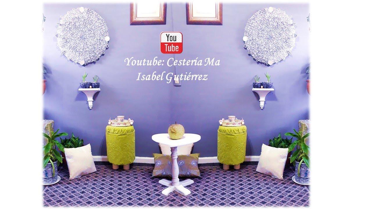 Espacio de mi casa con 7 decoraciones con material reciclado, para que te animes a reciclar!!