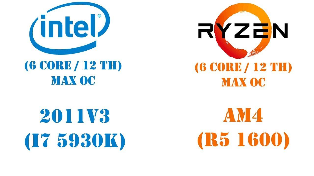 Уникальное сравнение Intel с AMD. Детальный тест Core i7 5930K vs Ryzen 5 1600 (MAX OC)