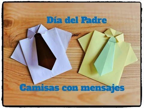 Día del Padre - Camisa y corbata Origami con Tarjeta en su ...
